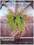 Moss Monogram Wreath Tutorial