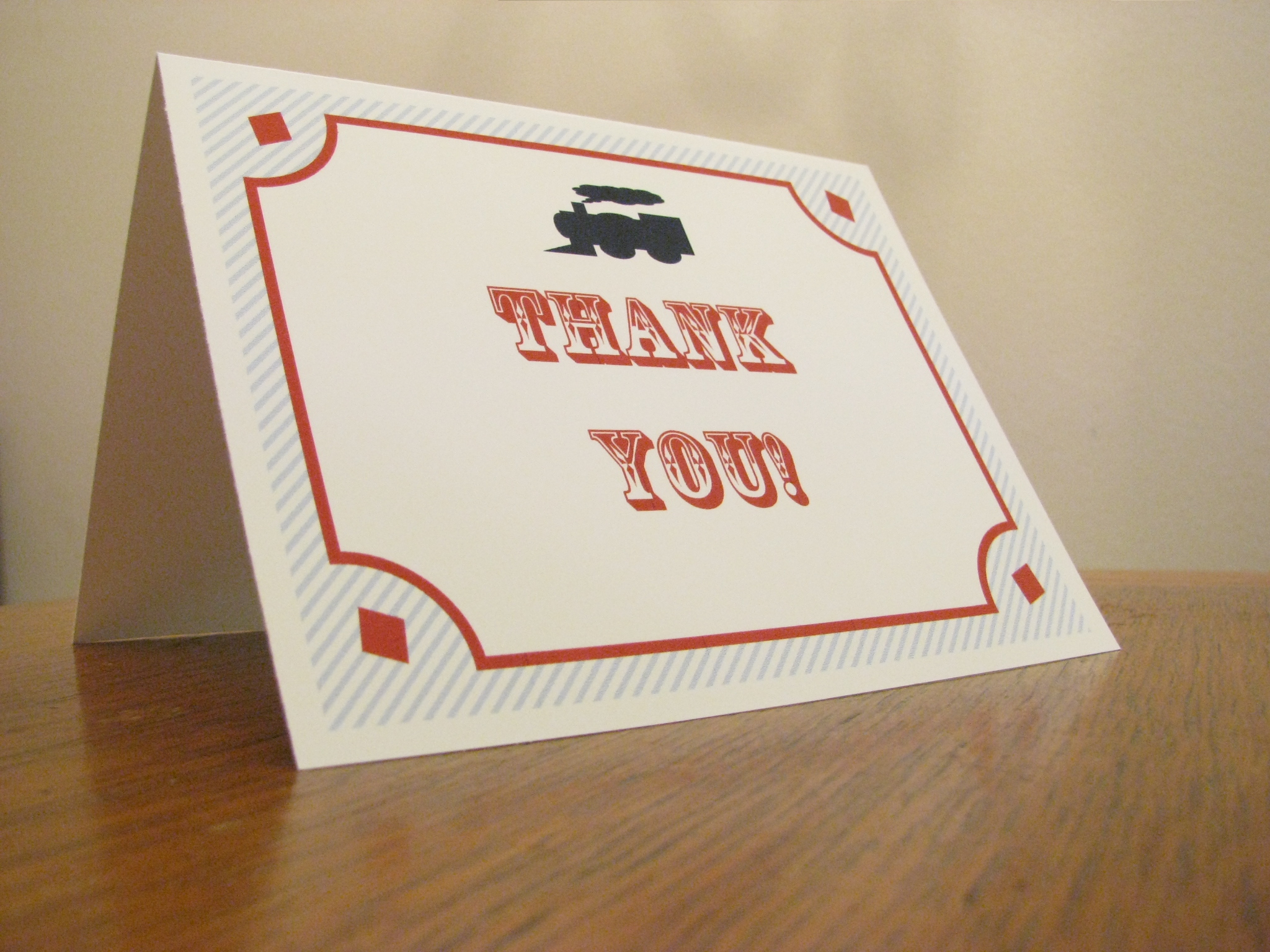 Tutorial Train Invitations Thank You Cards And Name Tags La - Avery thank you card template