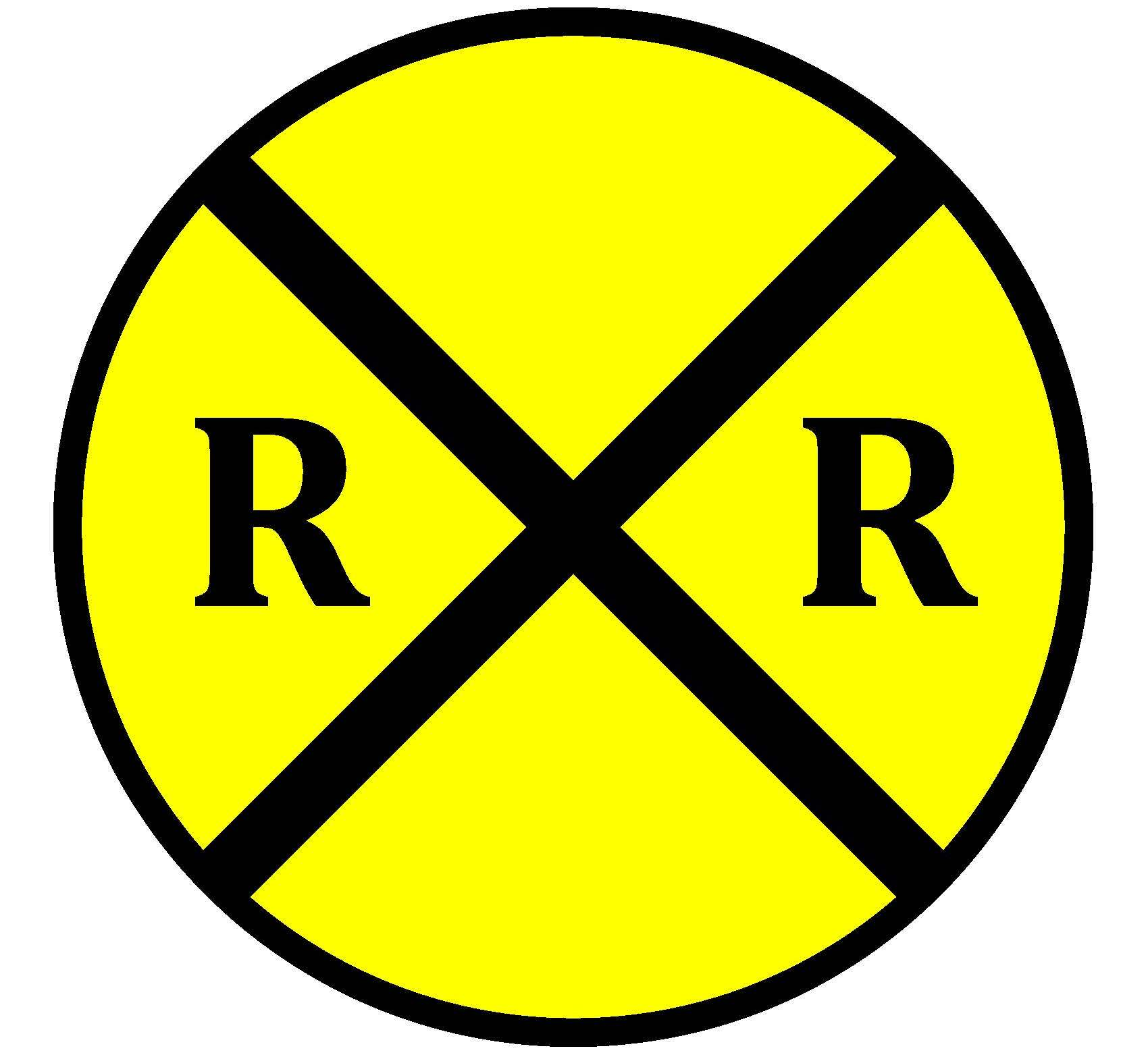 Légend image within railroad crossing sign printable