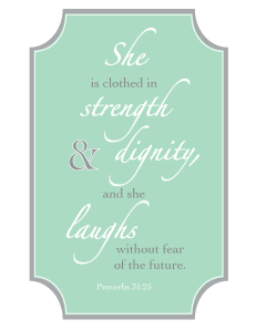 Proverbs 31 - Mint