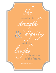 Proverbs 31 - Orange